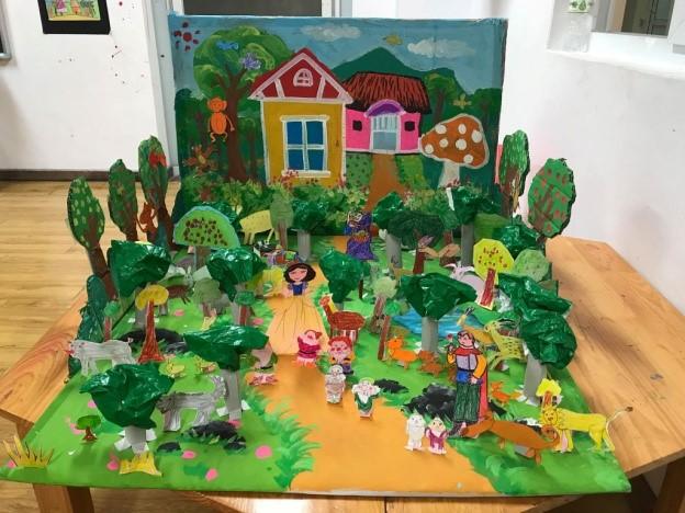 Học sinh khối 3 tại Hệ thống giáo dục CGD Victory được vẽ và làm mô hình 3D về câu chuyện mà mình yêu thích