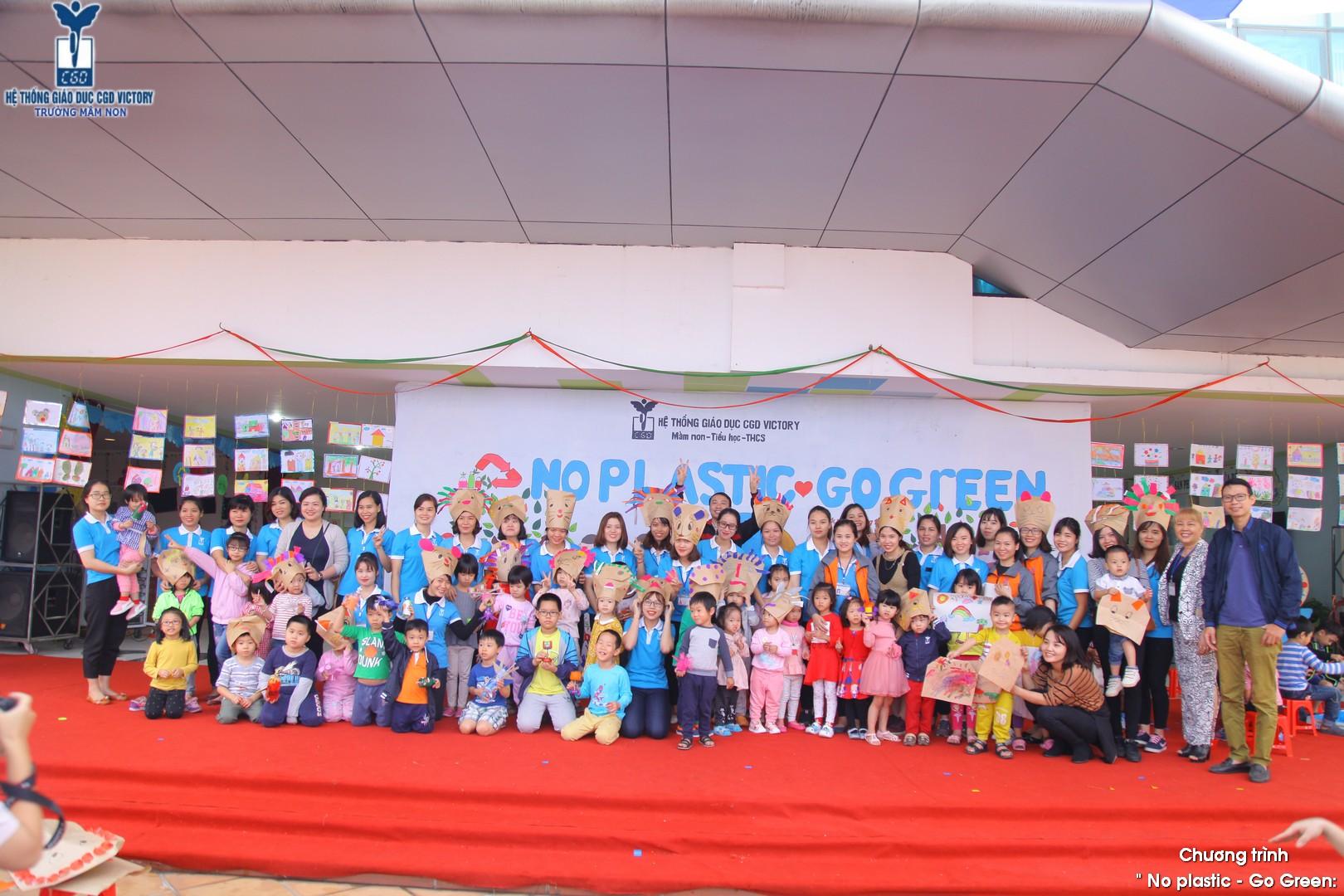 Học sinh trường mầm non CGD Victory trong sự kiệnNo Plastic - Go green